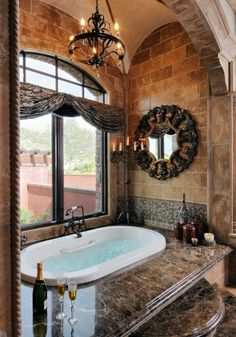 Love the open window for master bath. Great for country living!!!