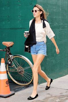Alexa Chung is seen in Soho on September 5, 2014 in New York City.