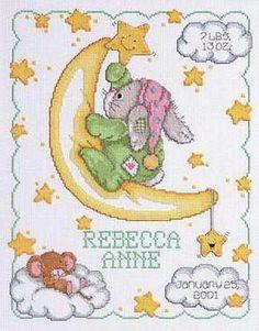 Baby Birth Record cross stitch - Google Search
