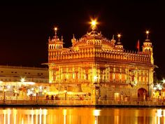 The Golden temple is the holiest shrines of Sikhs. Its dome was decorated with gold on its surface. Building was started in the reign of Mughal emperor Akbar.