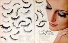 Andrea False Eyelashes Ad, 1970