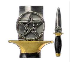 Pentagram Athame Witches Knife at Mystic Convergence Metaphysical Supplies - Metaphysical Supplies, Pagan Jewelry, Witchcraft Supply, New Age Spiritual Store Pagan Witch, Wiccan, Magick, Witches, Witchcraft Supplies, Pagan Jewelry, Pentacle, Wooden Handles, Wands
