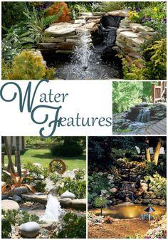 The Best Stone Waterfalls Backyard Ideas – Pool Landscape Ideas Backyard Water Feature, Ponds Backyard, Garden Ponds, Backyard Waterfalls, Koi Ponds, Waterfall Landscaping, Pond Waterfall, Outdoor Water Features, Water Features In The Garden