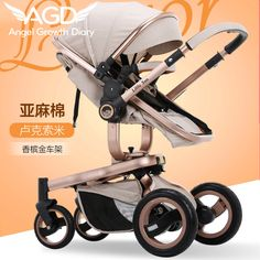 Find More Strollers Information about 2016 New Arrival Baby Stroller Pushchairs For Newborns High Landscape Two way Trolley For Sitting And Lying New Suspension,High Quality stroller age,China stroller bike Suppliers, Cheap strollers lightweight from Angel Growth Diary on Aliexpress.com