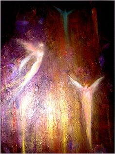 CAROL LEE ART modern canvas fine original giclee print abstract angels Painting