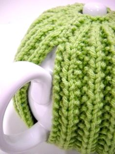 Spring Green Knit Teapot Cozy Handknit Tea Cozy by StitchKnit, $24.00