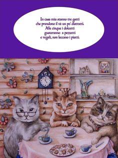 """Uno dei limerick presenti nel libro """"Dal fondo del mio cappello"""" con una splendida illustrazione di Patrizia Paganelli"""