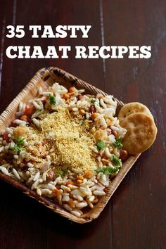 collection of 35 tasty chaat recipes. the word 'chaat' comes from the hindi word 'chaat' which means to taste or 'chaatna' which means to lick. usually chaat snacks are served in stalls or carts. but they can be easily made at home.