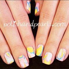 Water Marbel Nails