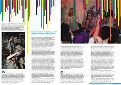 Graphic Design BTEC ND Year 1 This was a project to take an article from a magazine and redesign the layout of the story. This is an article about a upcoming DJ that I chose.