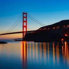 Golden Gate Bridge by sanfrancisco-city #sanfrancisco #sf #bayarea #alwayssf #goldengatebridge #goldengate #alcatraz #california