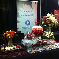 Our wedding flowers from the wedding show. Wedding Show, Our Wedding, Wedding Bouquets, Wedding Flowers, Trade Show, Display, Table Decorations, Create, Home Decor