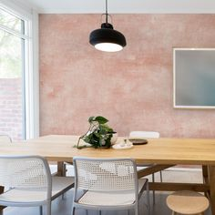 Wallpaper Samples, Fabric Wallpaper, Venetian Plaster Walls, Mural Wall Art, Traditional Wallpaper, Extra Large Wall Art, Pink Walls, Simple Shapes, Wall Spaces