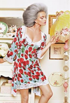 Nanna Chic: Peter Alexander PJs Catalog Holy Chic, Cute Pajamas, Pajama Party, Marie Antoinette, Editorial Fashion, Lounge Wear, Wrap Dress, Fashion Photography, Glamour