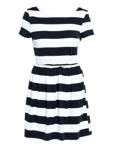 Clothing, Gifts and Accessories for Men and Women Short Sleeve Dresses, Dresses With Sleeves, Striped Jersey, Festival Fashion, Skater Dress, Glamour, Clothes, Women, Style