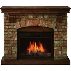 With this Stonegate Malibu Electric Fireplace, you get the look and feel of a wood-burning fireplace without the mess. No installation or venting is necessary. Simply plug this unit into a standard wall outlet to heat areas up to 500 square feet. Enjoy the 3D and motion effect flame with or without heat.
