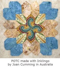 POTC made with Inklingo by Joan in Australia - Thanks to Inklingo, Joan sews with a running stitch by hand instead of English Paper Piecing, but Inklingo has advantages even if you EPP.