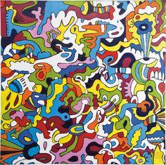 Ölbild Abstract Croud 120x120cm
