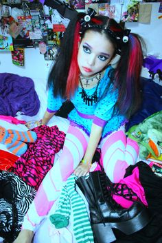 Little #Pastel-Goth, #Lollipop-Goth, Kawaii in training. Why not let her dress up and have fun?