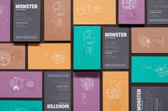 Illustrated business cards by Drew Millward and The Metric System for production company Monster