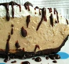 "Peanut Butter Fudge Pie: ""Oh, wow! I made this pie for Memorial Day weekend, and let me just say it's a good thing I made two, because one definitely would not have made it to this weekend!"" -Cheeky Panda"