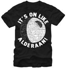 Star Wars It's On Like Alderaan Men's T-Shirt, Black, X-Large Unknown,http://smile.amazon.com/dp/B009EEC2N6/ref=cm_sw_r_pi_dp_eBXxtb00VAPZYZ2T