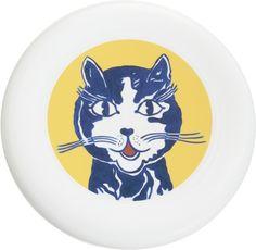 Roy Lichtenstein, Laughing Cat, 1961, flying disc. COURTESY BARNEYS NEW YORK.