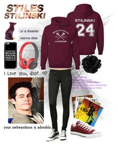 Hanging out With Stiles🤘🏻♡️ by strangergirl10-31 on Polyvore featuring polyvore fashion style Beats by Dr. Dre Converse Casetify Therapy clothing
