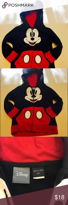 Disney Mickey Mouse hoodie new never worn New Disney toddler Mickey Mouse hoodie never worn Disney Shirts & Tops Sweatshirts & Hoodies