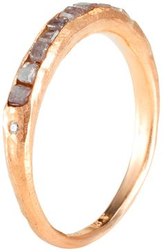 gold ring with raw beauty