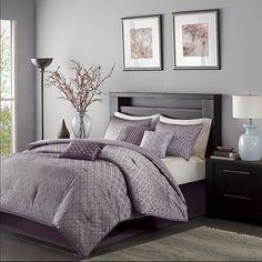 Hudson 7 Piece Comforter Set - Purple (King) : Target