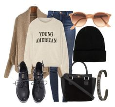 """""""Young American"""" by betty220285 ❤ liked on Polyvore featuring J Brand, The Elder Statesman, NLY Accessories and Ray-Ban"""
