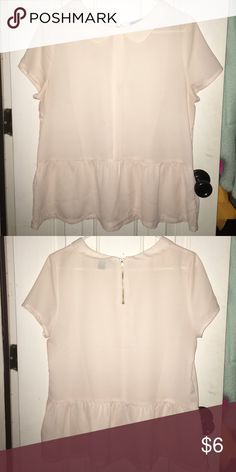 Cream shirt! Forever 21 cream flowy shirt with Peter Pan collar! Forever 21 Tops Blouses