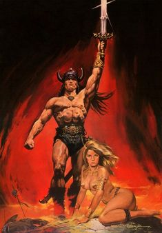 Renato Casaro Fantasy Art Men, Fantasy Rpg, Comic Manga, Comic Art, Conan O Barbaro, Conan The Conqueror, Conan Exiles, Superhero Cosplay, Conan The Barbarian