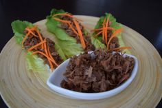 Koreen inspired pulled jackfruit: - 1 can of Jackfruit green in brine (not syrup ! Protein Recipes, Protein Foods, Jackfruit Recipes, Pulled Pork, Korean, Beef, Inspired, Ethnic Recipes, Inspiration