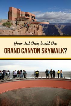 Learn how this million pound steel and glass structure is able to extend straight out from the edge of Eagle Point, feet above the Canyon floor. Glass Bridge, Visiting The Grand Canyon, Glass Structure, Engineering, Louvre, Steel, Building, Blog, Travel