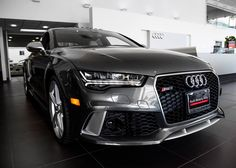 Audi RS7 in Daytona Grey Pearl Effect with Lunar Silver Interior and Matte Aluminum Optic Package