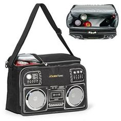 Retro Boombox Polyester Cooler