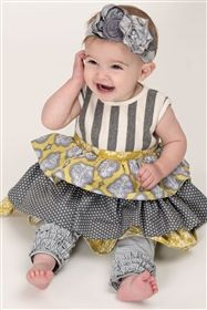 Baby Persnickety Clothing - October Sky Gathered Ruffle Legging in Grey