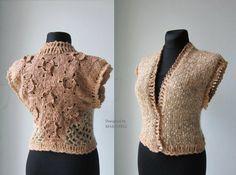 Crochet Sweater Top, Sweater Jacket, Lace Woman Top, Knit Woman Top, Winter Fashion Top