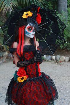 Staring Dia de los Muertos | Dia de los Muertos Girls Hallow… | Flickr