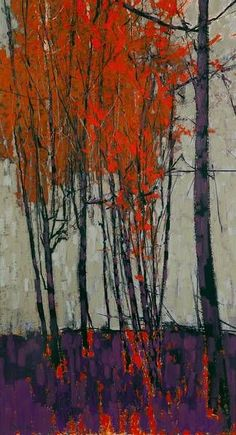 Image result for pastel abstract tree paintings