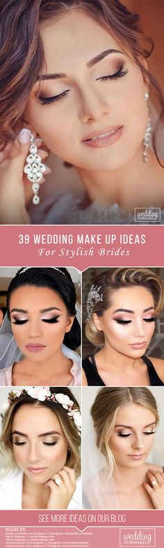 39 Wedding Make Up Ideas For Stylish Brides ❤ We've created collection of wedding makeup. There are ideas for unique make up, elegant, make up that will be appropriate for different eyes' colours. See more: http://www.weddingforward.com/wedding-makeup/ #wedding #bride #bridalmakeup #weddingmakeup