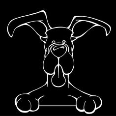 The Decal Dog of the Day the Great Dane. Show off your love for your Soulmutt with a Decal Dog Car Window Sticker. And bark loud and proud by personalizing it with your dog's name! #decaldogs #dogsoffacebook  #GreatDane