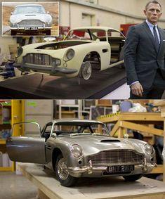 The High-Tech Secret Behind James Bond's Aston Martin in Skyfall Classic Aston Martin, Aston Martin Db5, Rachel Weisz, James Bond Movie Posters, James Bond Cars, Daniel Craig James Bond, Skyfall, Retro Toys, Classic Tv