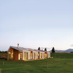 """Beautiful rural home in New Zealand.  Love the open space, and the sense of """"connected pavilions.""""  From Dwell.  Of course."""