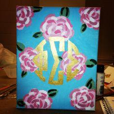Lilly Pulitzer Phi Sigma Sigma canvas