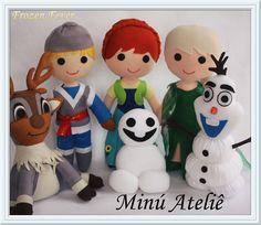 Kit Frozen Fever em feltro  #frozenfever #Elsa #Anna #Olaf #Sven #Kristoff #Espirro #felt #feltro #festafrozen #festafrozenfever #frozenparty  #minuatelie  #feltrosantafe