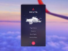 Delta Flight Reservation #mobileapp #inspiration #concept