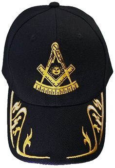 33f4704bc2b Past Master Mason Baseball Cap Freemason Hat Mens One Size Black -  CV120RQ27ZT